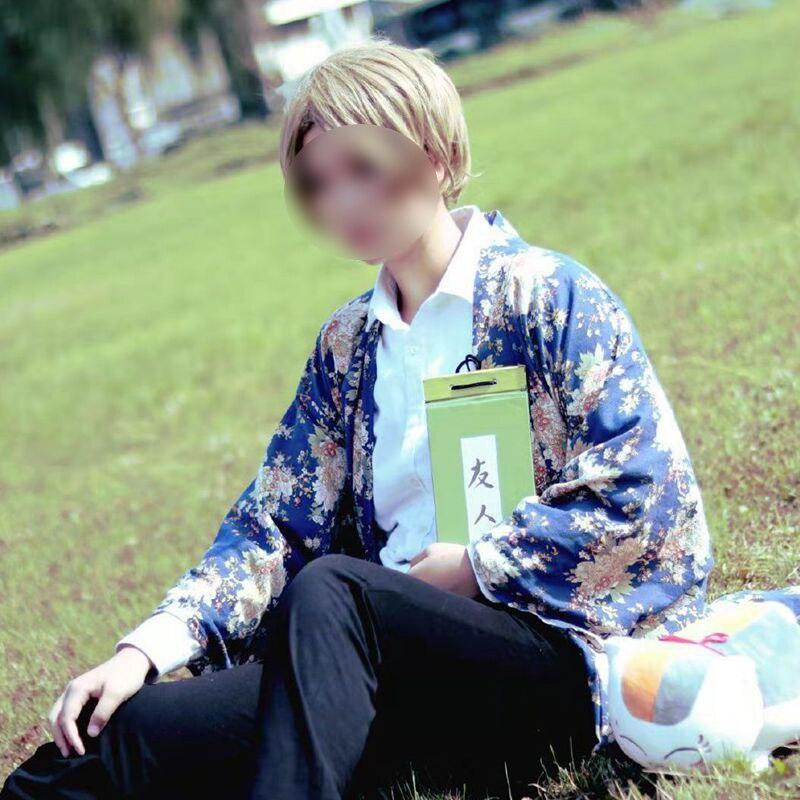 Livro de Amigos Trajes de Cosplay Kimono para o Halloween Moda Anime Natsume Takashi Cosplay Yukata Cos