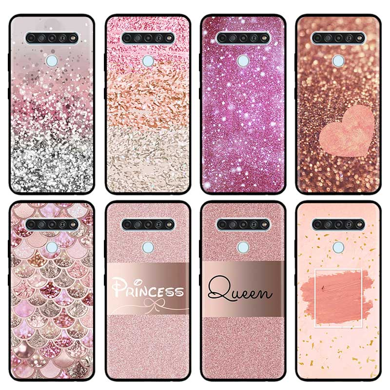 Soft Case Para LG K40 K40s K41s K50s K51s K61 G6 G7 G8 K31 K42 K52 K62 K71 Q51 Q60 Q61 Q70 Capa Fundas Coque Rosa Ouro Rosa Capa