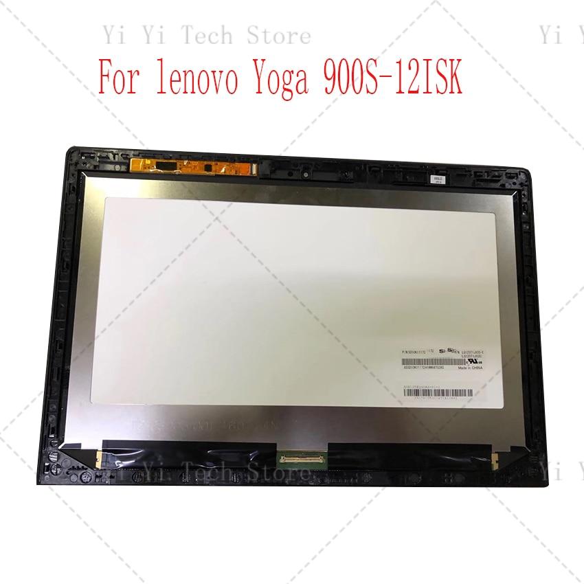 Para lenovo YOGA 900S-12isk pantalla táctil digitalizador montaje + marco IPS FHD 1920*1080 N125HCE-GN1 QHD 2560*1440 LQ125T1JX05-E 80ML