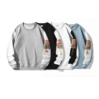 mens round neck sweater autumn and winter 2021 new loose casual sweatshirt fashion couple wear 100 cotton long sleeved top