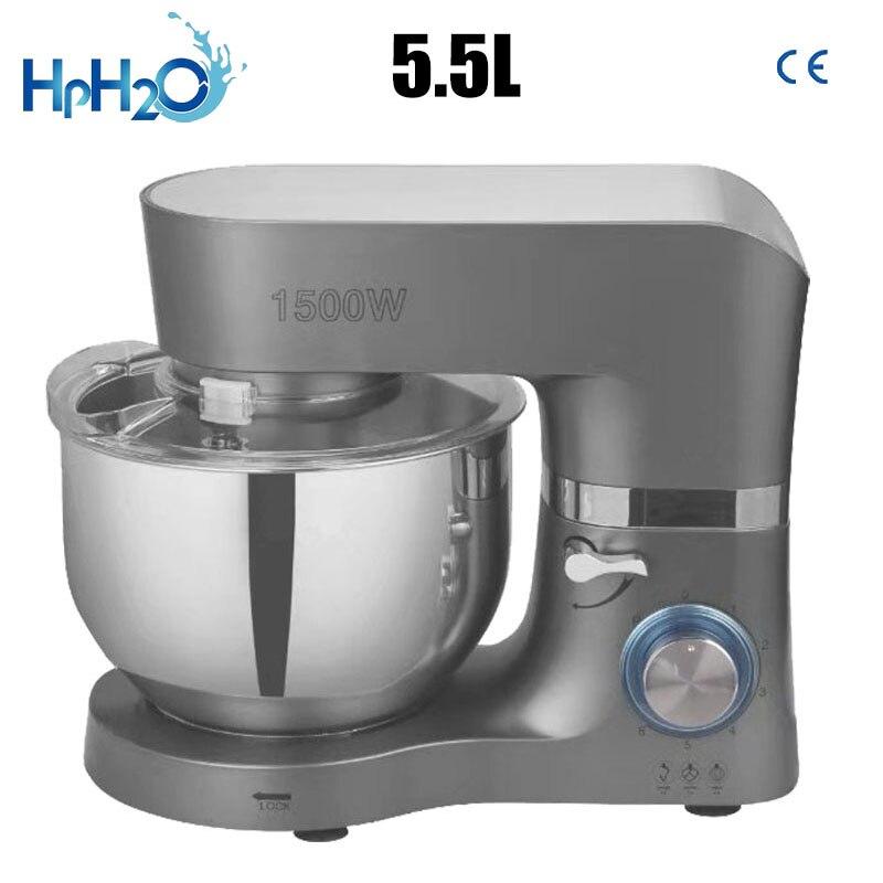 Многофункциональная промышленная тестомешалка 1500 Вт, бытовой электрический пищевой миксер 5,5 л для яиц, взбитых сливок, салатов, выпечки тортов | Бытовая техника | АлиЭкспресс