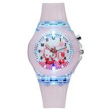 Reloj con dibujos animados para niños y niñas, relojes de silicona con luces luminosas de colores, bonitos, regalos