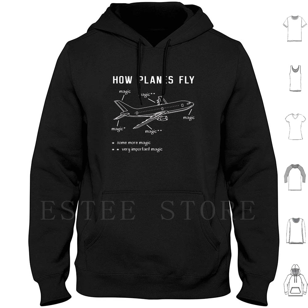 How Planes Fly , Airplane Flying Pilot Tshirt Gift Hoodies Long Sleeve Pilot Funny Flight Fly Flying