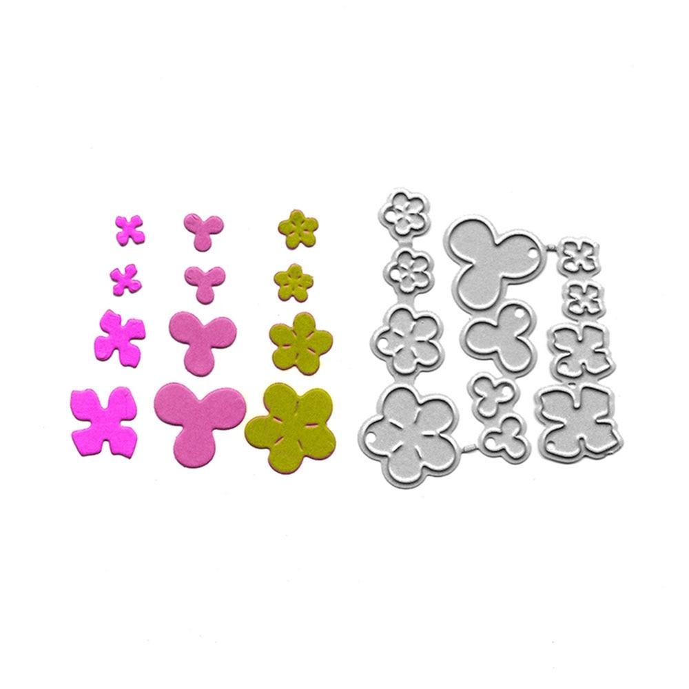 Цветок Металлический Трафаретный вырубной штамп Скрапбукинг папки для тиснения для изготовления открыток ремесло трафарет Slimline пресс-фор...