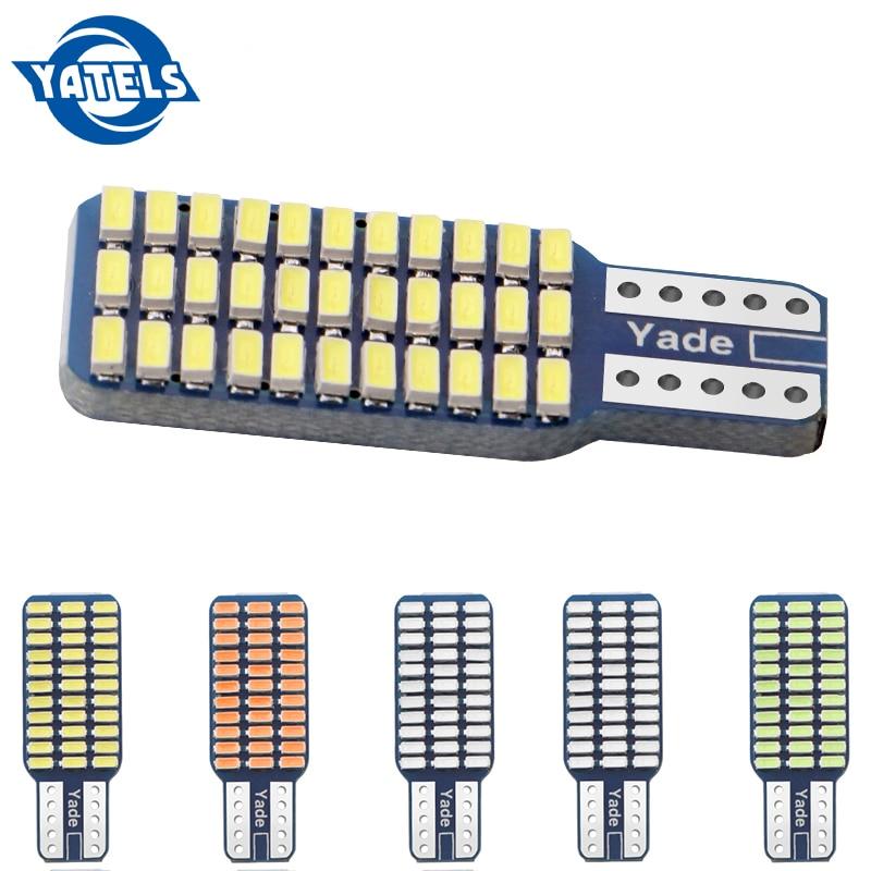 1 pièces T10 192 194 168 W5W ampoule LED 33 SMD 33 led 3014 voiture feux arrière dôme lampe DC 12V Canbus sans erreur rouge bleu voiture style