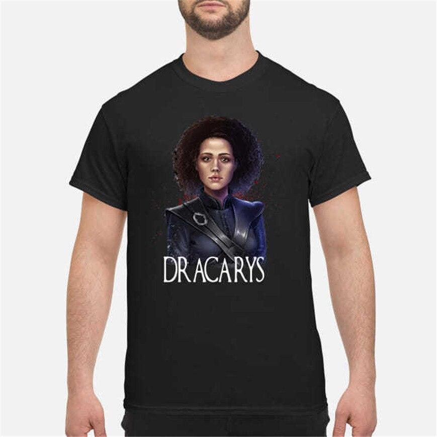 Camiseta negra Juego de tronos de Missandei Jon Snow Dany Tagaryen gris gusano S-6Xl talla grande ropa camiseta