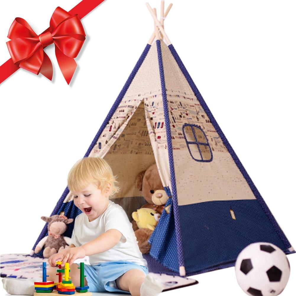 Детская палатка, игровой домик для детей, палатка для детей для скалолазания, игрушечная палатка с острым носком, полосатая палатка принцес...