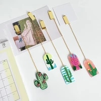 TUTU 1 pcs Fresh Cactus acrylic Bookmarks Books Marker of Page Student Stationery School Office Supply H0594