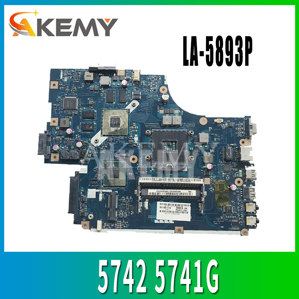 LA-5893P اللوحة لشركة أيسر 5740 5741 5742 5741G 5742GLA-5891P LA-5894P LA-5893P اللوحة 8 * ذاكرة الفيديو