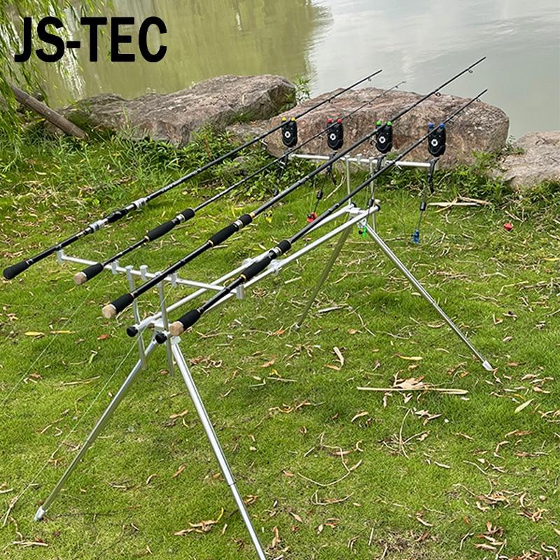 Aluminum Carp Fishing Rod Pod 4 Feet Adjustable Pole Stand Holder Foldable Fishing Pole Pod Stand Tackle Fishing Alarms Tools