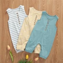 Summer Baby Romper Newborn Baby Boys Girls Clothes Infant Romper Soft Infant One Piece Sleeveless Ju