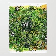 Wall Art HD imprimé Lot beau vert trèfle photo toile décor à la maison modulaire peinture cadeau pas de cadre Cuadros pour salon