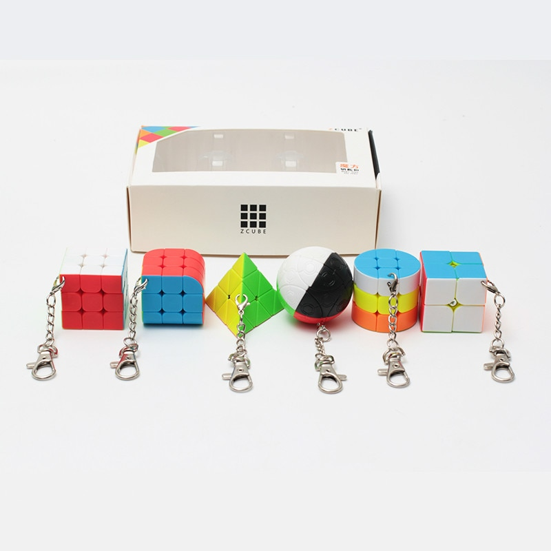 zcube pacote 6 pecas presente conjunto pacote mini cubo magico 2x2x2 3x3x3 magica