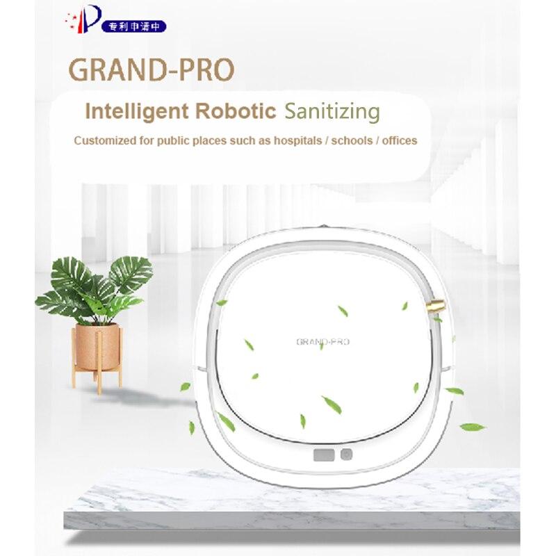 Grand-pro gd60 sanitizing robô mop precisão jet spray, molhado e úmido esfregar, um difusor de aroma, também um umidificador.