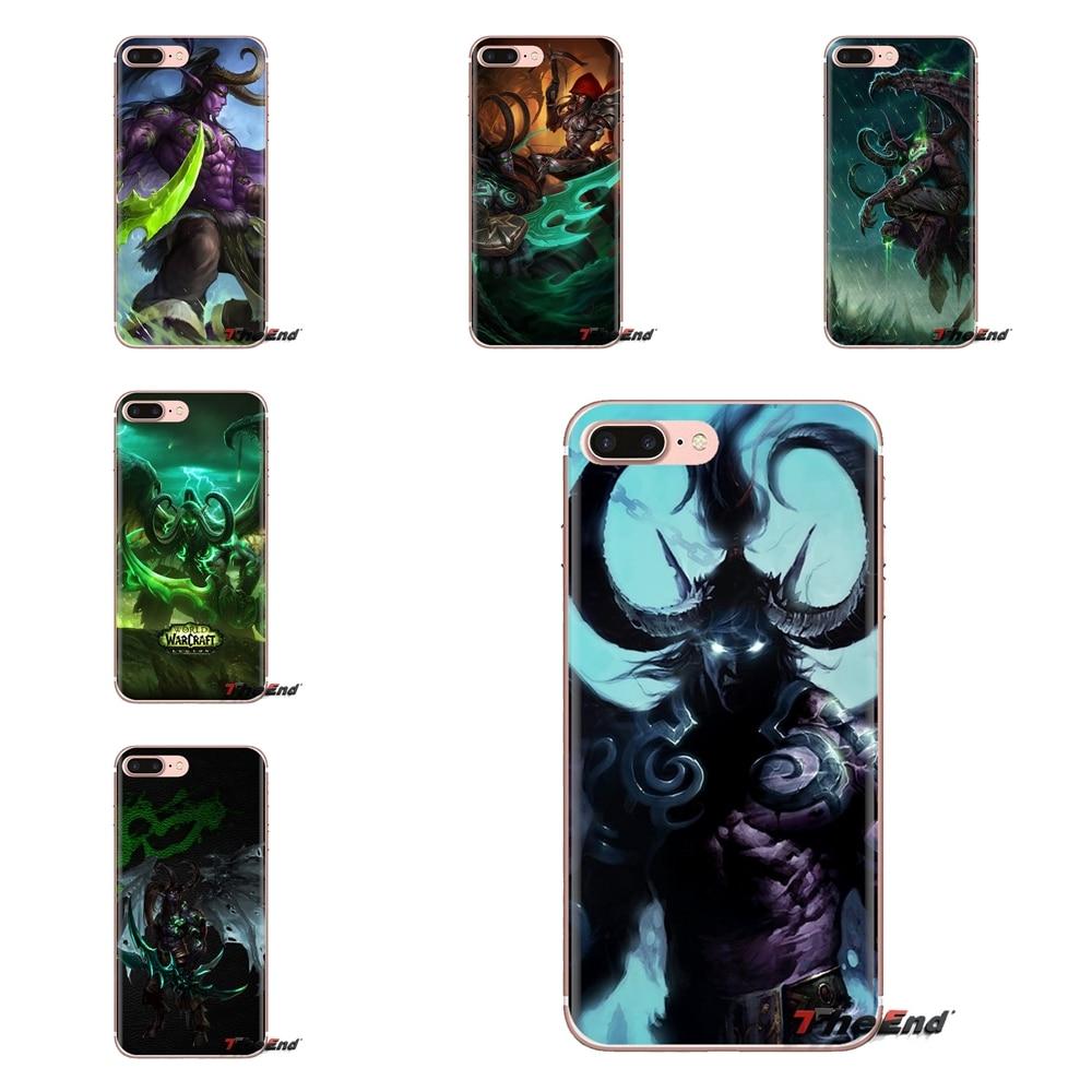 Capa do telefone de silicone saco illidan stormrage telefone papel de parede para ipod touch apple iphone 4 4S 5 5S se 5c 6 s 7 8 x xr mais max