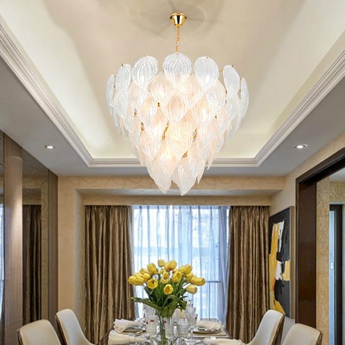 Nordic led living room chandelier lighting luxury hotel crystal chandelier decoration modern dining room bedroom hanging lamp