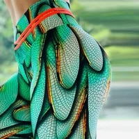 ogilvy mather summer women leggings feathers 3d printed women sexy fitness activewear elastic mid waist trousers dropshipping