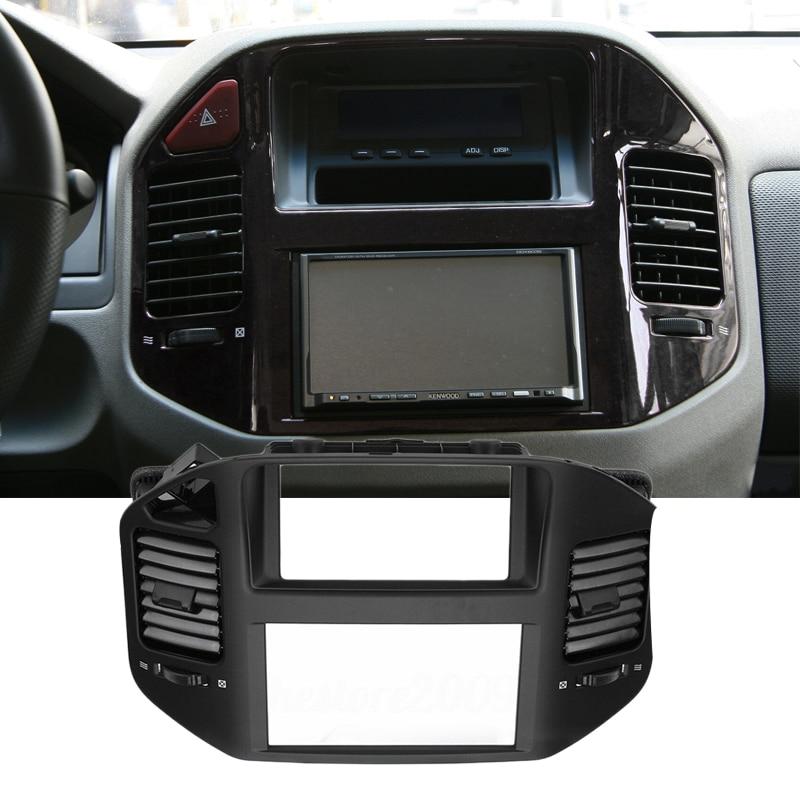Abs painel frontal do carro centro saída de ar ventilação capa quadro apto para mitsubishi pajero montero mk3 2006 2005 2004 2003 2002 2001