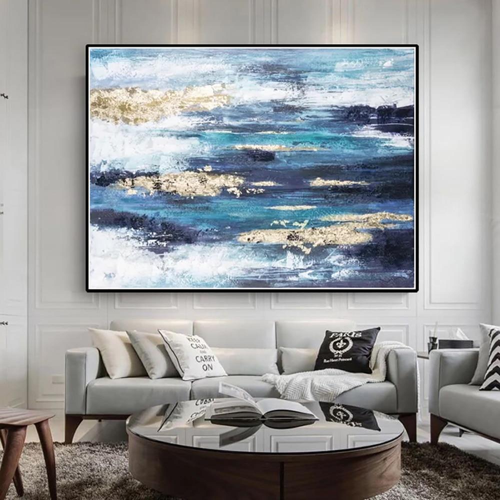 Картины ручной работы, настенные картины маслом, цветные абстрактные картины, Современный домашний декор, Картина на холсте для гостиной, б... картины
