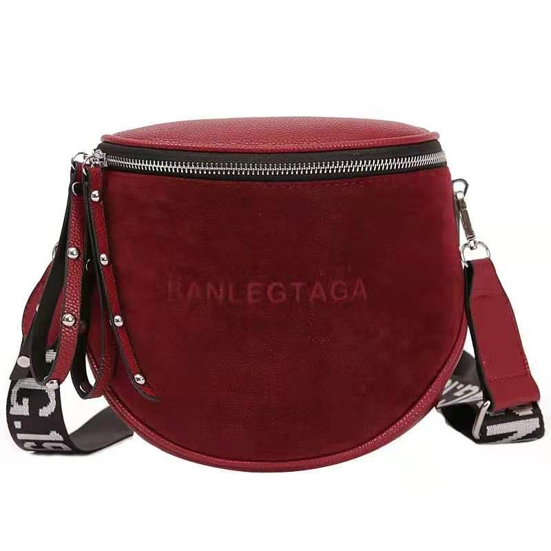 Fashion Women Small vintage Lady Semicircle Saddle Shouder Bag Bucket Bags Crossbody Tote Bag Females casual Bag