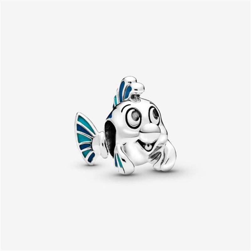 Abalorio de plata esterlina 925 pequeño haluro compatible con pulsera Pandora Original...