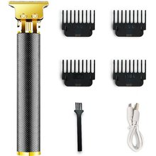 Hair Clippers Cordless USB Rechargeable Grooming Kits T-Blade Close Cutting Trimmer For Men Bald Hea