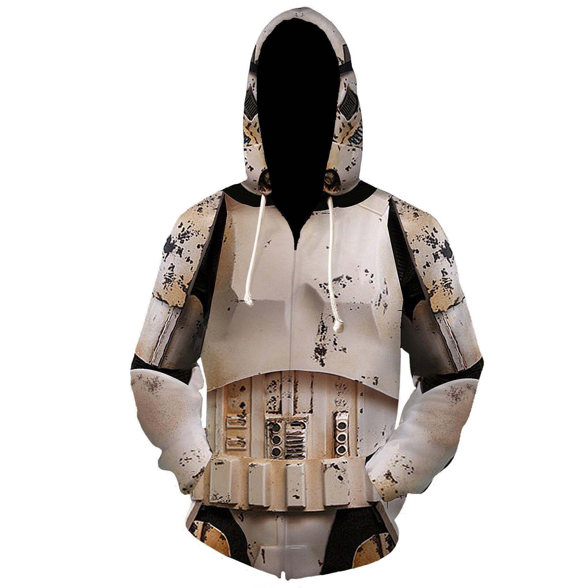 Película Star Wars The Rise of Skywalker Jedi sudaderas de caballero chaquetas de Cosplay trajes Mandalorian impresión 3D sudaderas con capucha