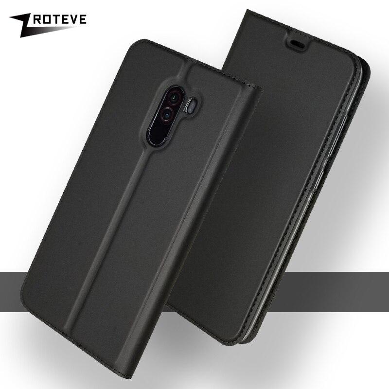 "For Xiaomi Pocophone F1 Case Cover ZROTEVE Flip Leather Wallet For Xiaomi F1 Case Flip Stand Cover For Pocophone F1 Cases 6.18"""