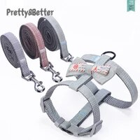 prettybetter cat harness japanese style pet leash set outdoor walking for pitbull chihuahua s m accessories cat collar bow tie