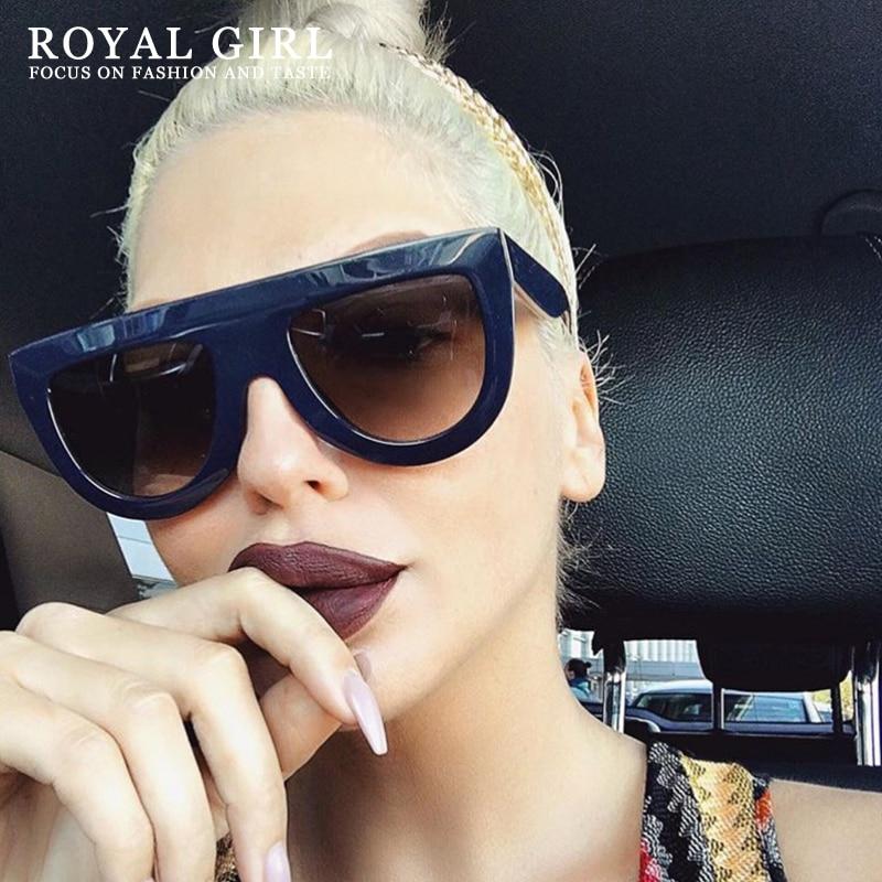 ROYAL GIRL Top Quality Sunglasses Women Flat Acetate Sun Glasses Female Brand Designer Shades Luxury Men ss174