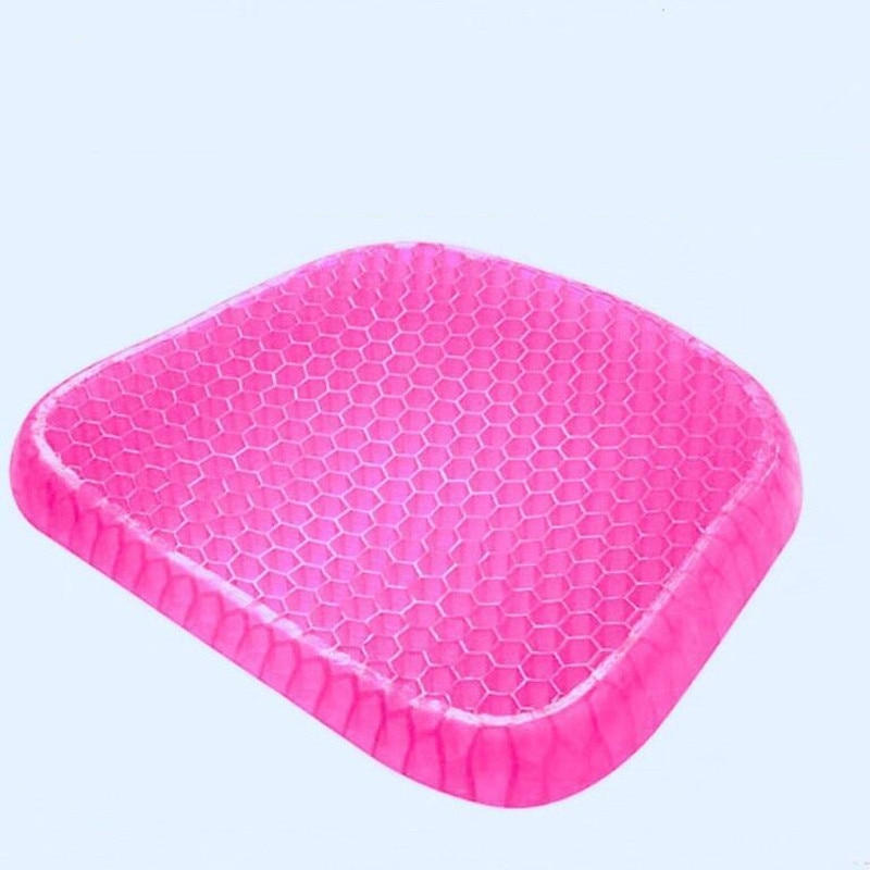 Cojín de asiento almohada antideslizante Para silla de panal transpirable evita que el cojín Para sentarse suave parte inferior sudorosa Para silla de ruedas de coche de oficina
