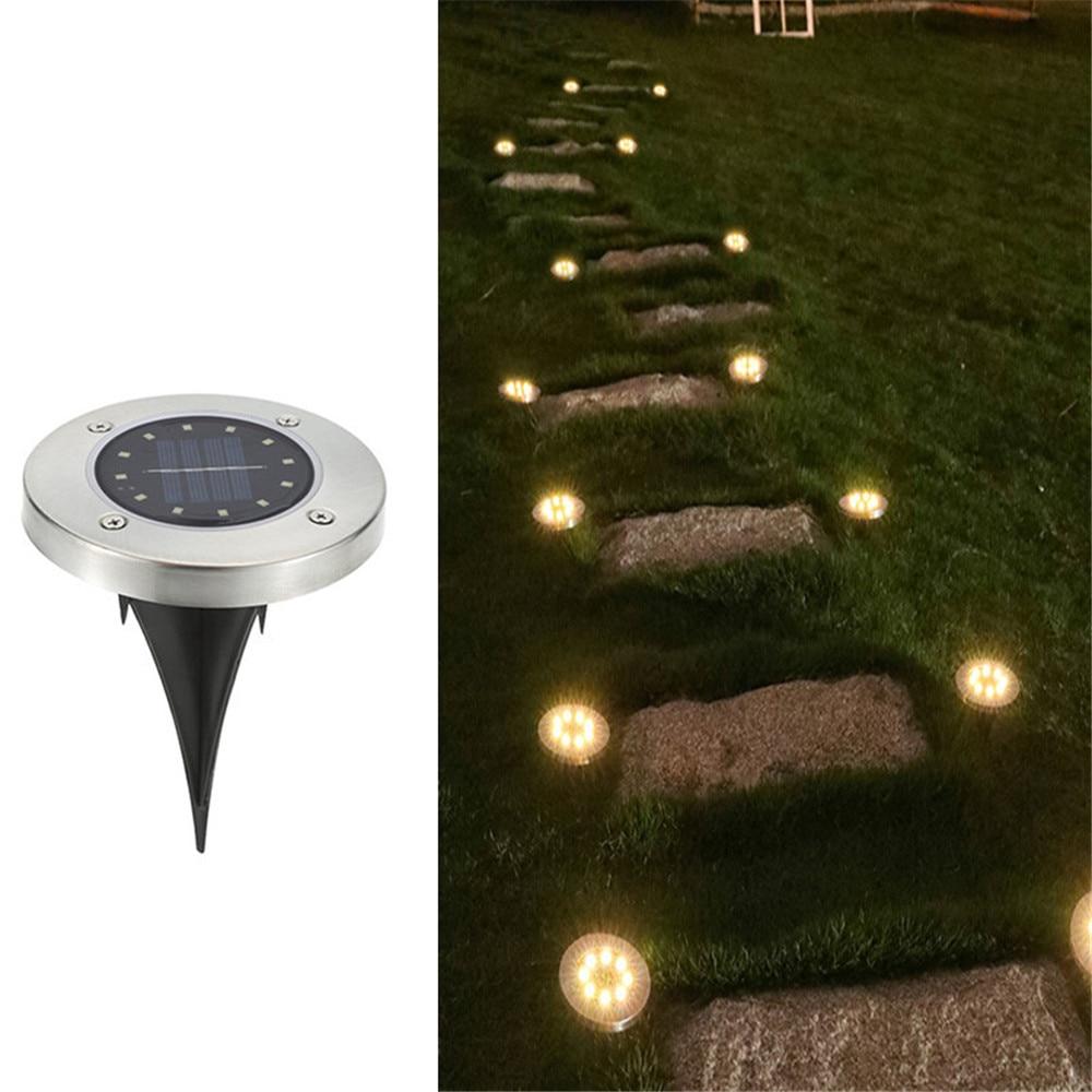 Luz Solar enterrada LED, luz enterrada Solar, impermeable al aire libre, acero inoxidable IP65 para decorar el camino, escaleras, parque, jardín, Luz