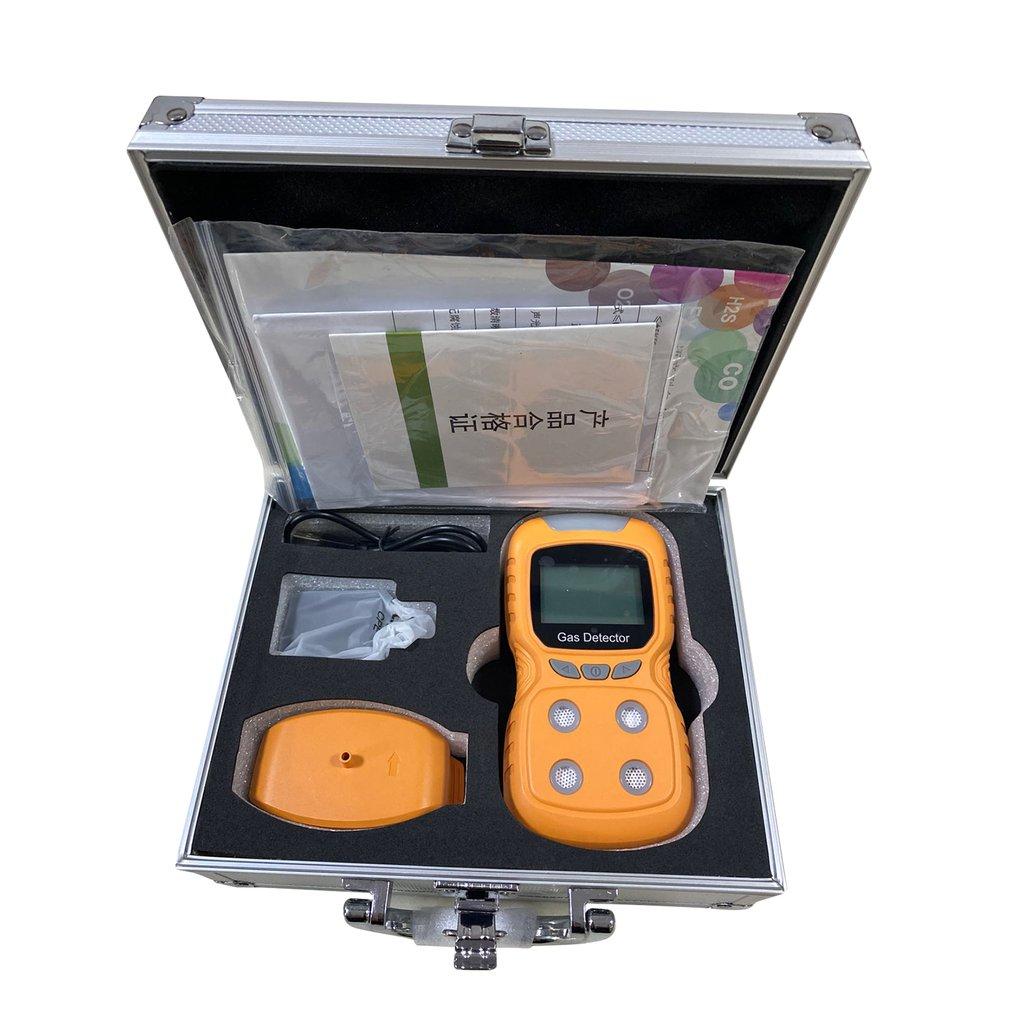 Portable Multi Gas Detector Gas Clip 4-Gas LPG/CO/O2/H2S Monitor Alarm Battery Detection Alarm Household