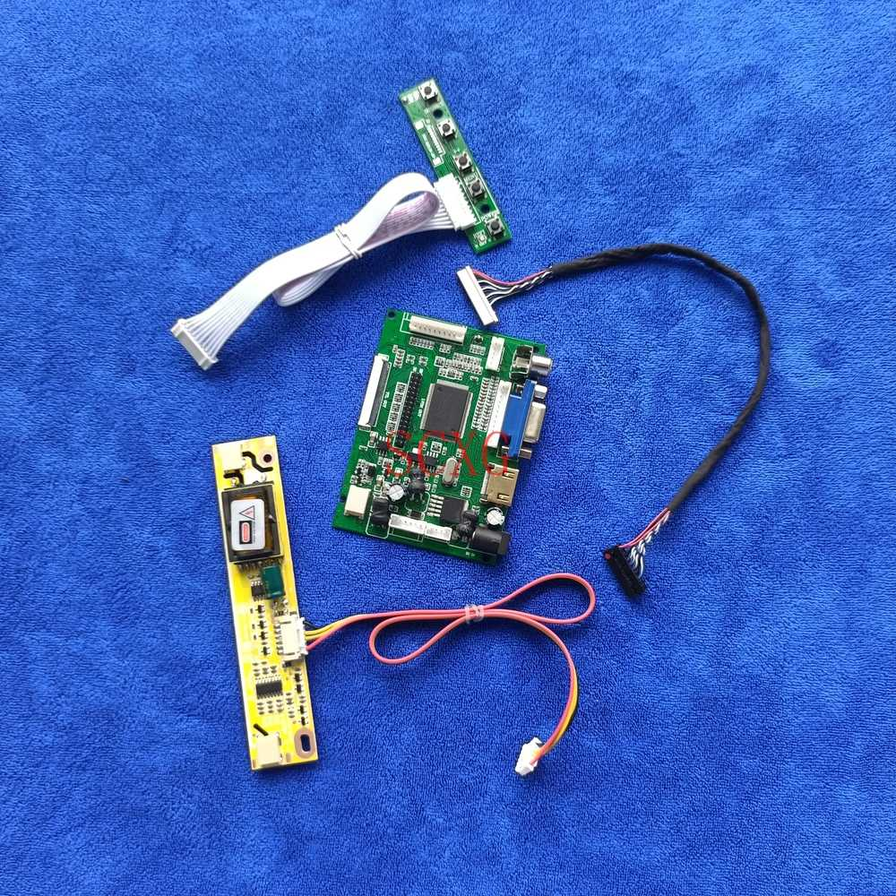 2CCFL لتقوم بها بنفسك Kit1024 * 768 LCD مصفوفة لوحة تحكم AV VGA HDMI-متوافق 20 دبوس LVDS تناسب SVA150XG05TB/SVA150XG06TB/SVA150XG10TB