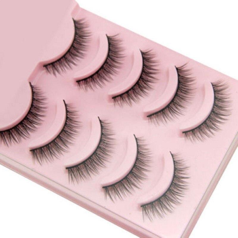 2019 heißer 5 Pairs Beliebte Natürliche Kurze Falsche Wimpern Täglichen Auge Wimpern Mädchen Make-Up Necessaries Wimper Extensiofor