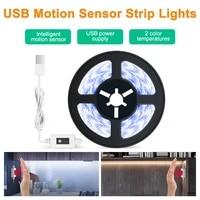 led strip lights dc5v motion sensor led lights waterproof dimmable nigh light under cabinet closet bedroom bathroom light