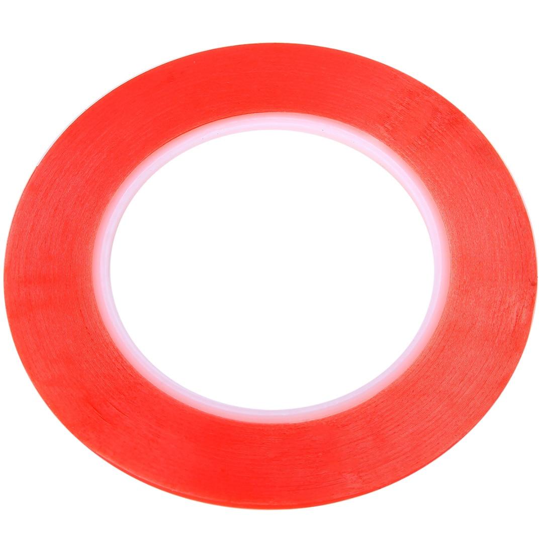 Cinta adhesiva de doble cara transparente de película roja acrílica de 25M para la herramienta de reparación de la pantalla LCD del teléfono celular Anchura 2/3/5/8/10mm