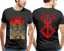 Berserk Manga Japanesse Anime Movie War MenS Black T Shirt Size S M L Xl Xxl