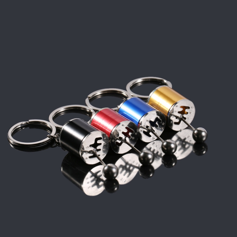 Creative Car Stalls Head Simulation Model Car Parts Gear Position Keychain Multi-Style Bag Accessori