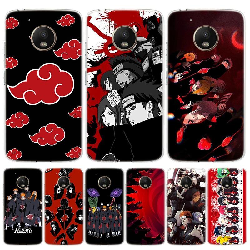 Anime Naruto Akatsuki Sect etui na telefony dla Motorola Moto G8 G7 G6 G5S G5 G4 E6 E4 Plus grać moc + jedna akcja makro ue Art Co