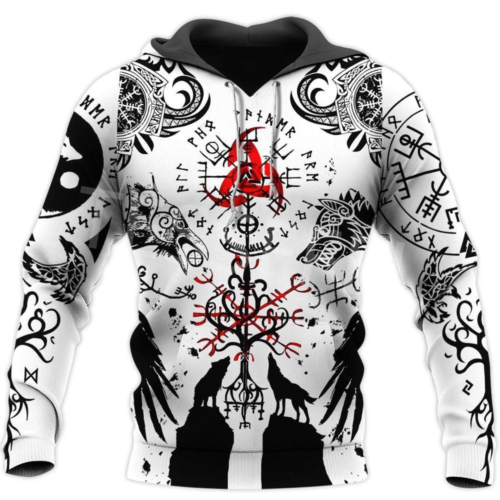 Tessffel Viking Tattoo Beautiful Pattern 3D Print Tracksuit Casual 3DfullPrint Hoodie/Sweatshirt/Jacket/Mens Womens H8
