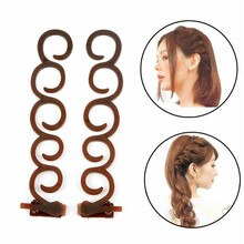 2pc Lady French Hair Braiding Tool Weave Braider Hair Twist Styling Tools DIY Bun Maker Hair Band Ac