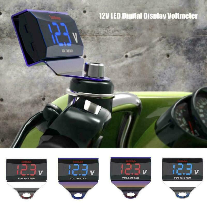 LED Digital Waterproof Voltmeter Gauge Meter 12V-24V Car Auto Motorcycle
