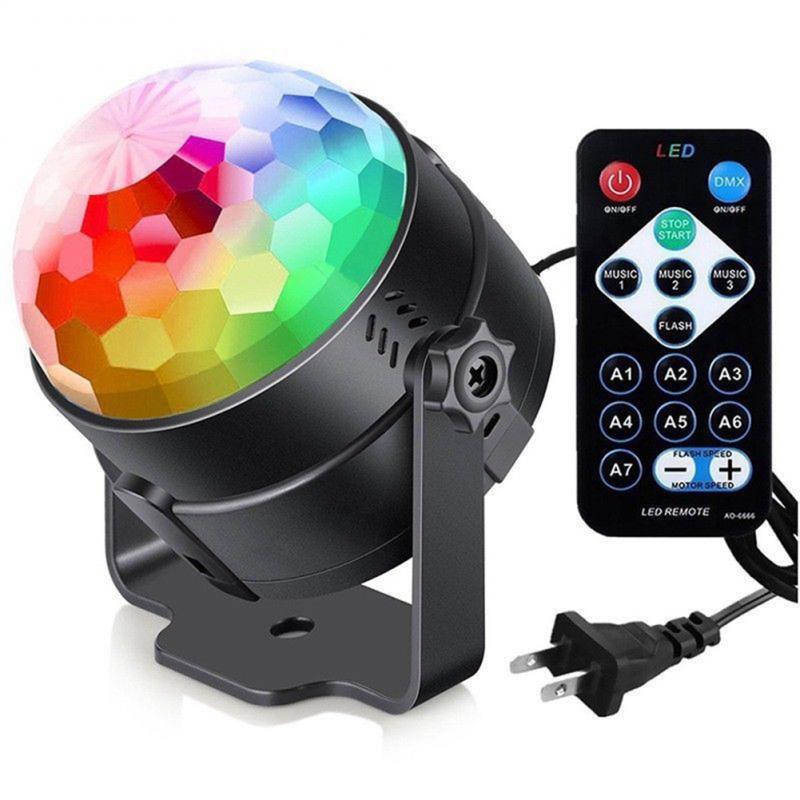 Luz Led de discoteca, luces de escenario, DJ, Disco, Bola de sonido, proyector láser activado, lámpara de efecto, música, fiesta de navidad