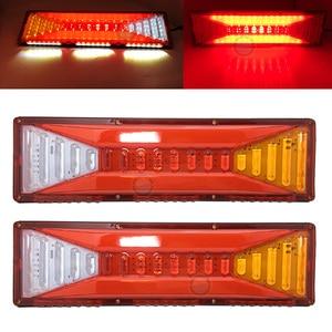 2pcs universal Car Rear Tail Lights Brake Stop Light Turn Signal Light Revese Lamp for Trailer Caravan Truck Lorry 24V.