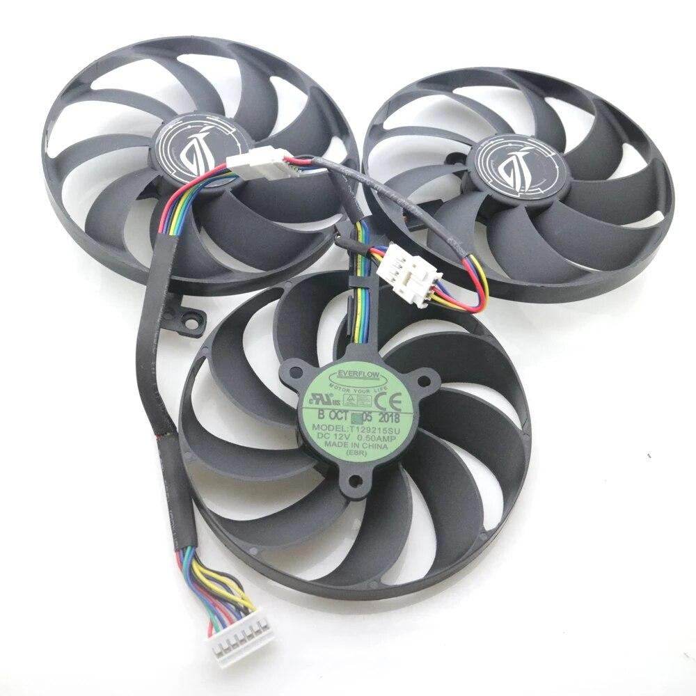 PLD09210S12H T129215SU 12V 88mm For ASUS ROG STRIX-RTX 2070 RTX2080 ROG-STRIX-RTX2070S SUPER Graphics Card Cooling Fan