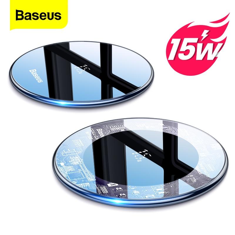Baseus 15 واط تشى شاحن لاسلكي آيفون 13 12 برو ماكس Xs التعريفي سريع لاسلكي شحن الوسادة لسامسونج شاومي mi 10 هواوي
