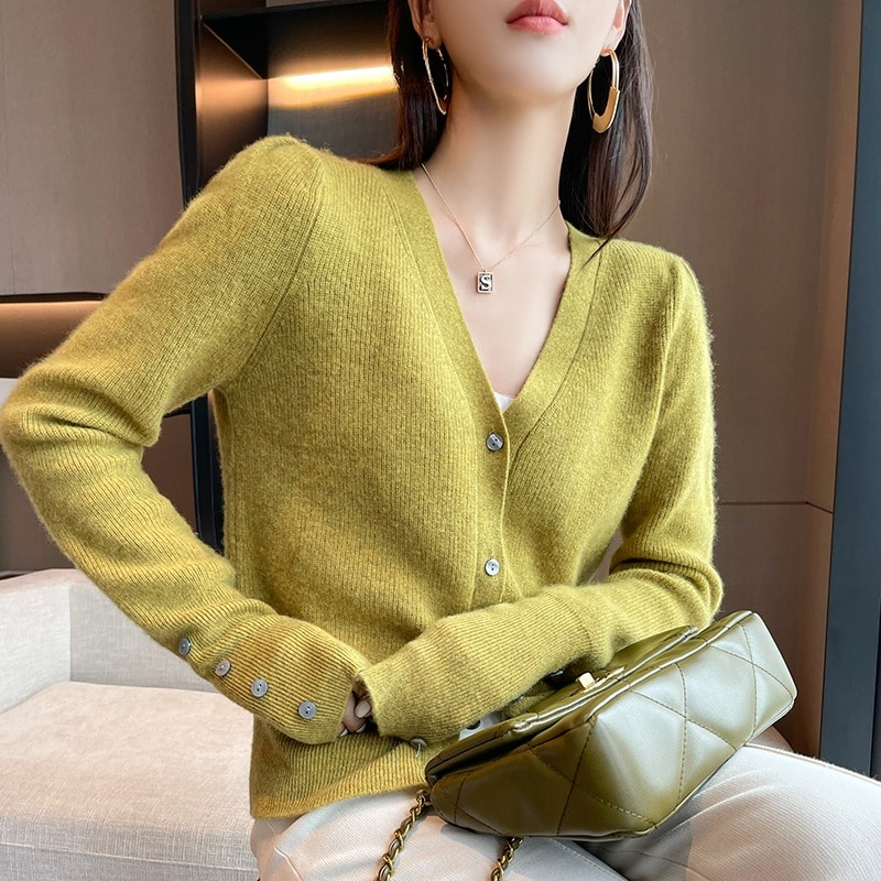adohon 2021 Cardigans for woman summer sweaters knitted jumper High Quality Female knitwear V-neck cool comfortable enlarge