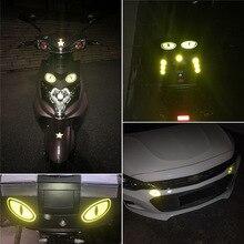 Autocollants réfléchissants pour casques de moto   Étiquette de sécurité, bande réfléchissante pour décoration automobile, accessoires dextérieur pour voiture