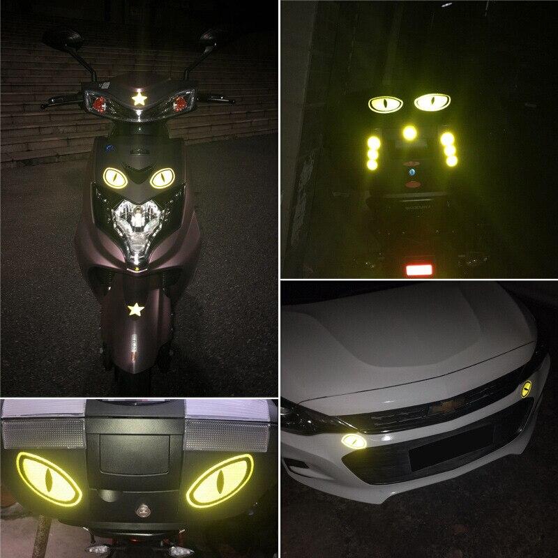 Pegatinas de coche motocicleta cascos pegatina reflectante marca de seguridad Reflector Auto decoración cinta accesorios exteriores para coche